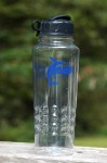 Displaying Clear Water Bottle