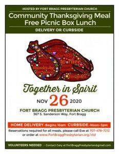 Free Community Dinner in Fort Bragg